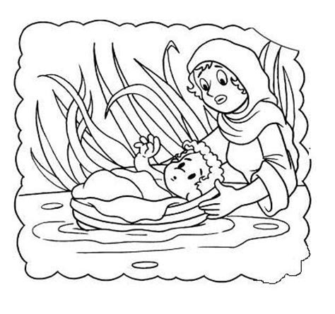 coloring pages of baby moses and miriam 77 best bible ot baby moses images on pinterest bible