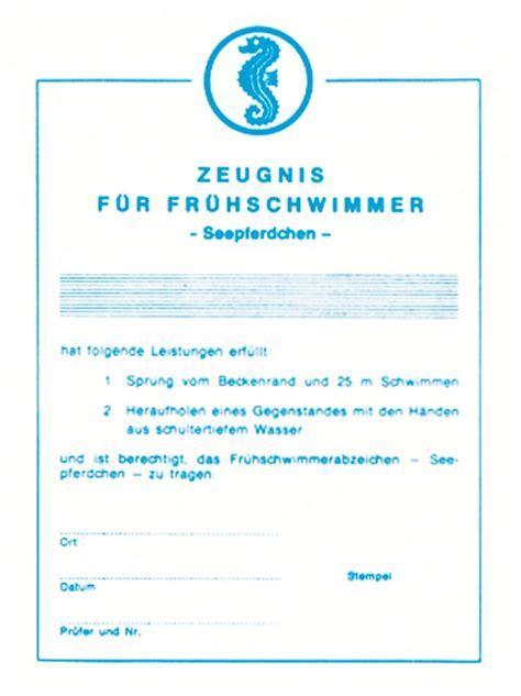 Bewerbung Anlagen Urkunde Oder Zeugnis Urkunde Seepferdchen Einzel Und Gro 223 Handel F 252 R Sport Und