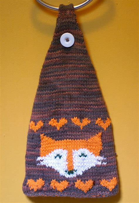 knitted tea towel pattern fox tea towel knitting pattern