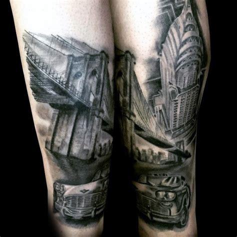 bridge tattoo design ideas  men architectural ink