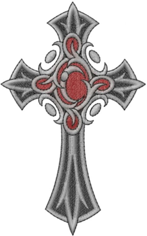 gothic cross embroidery designs machine embroidery