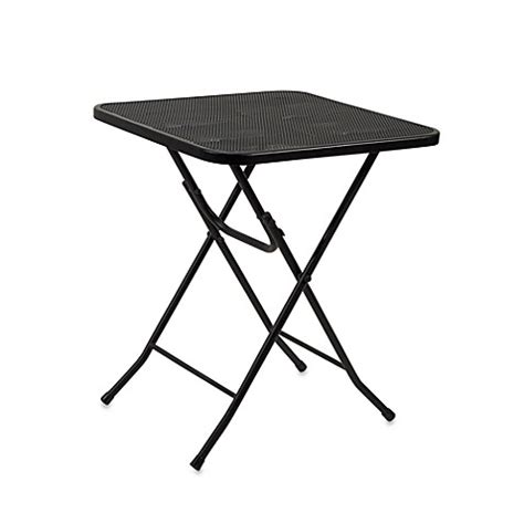 Wrought Iron Bistro Table Folding Wrought Iron Bistro Table Bed Bath Beyond
