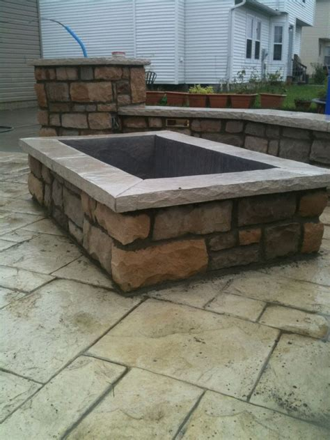 Square Firepits Square Fire Pit Patio Ideas Pinterest