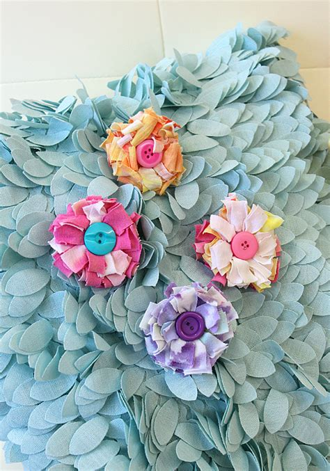 Craft Giveaways - t shirt flower pins national craft month project