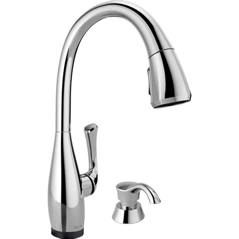 shop delta esque with touch2o technology chrome 1 handle delta dominic single handle pull down kitchen faucet
