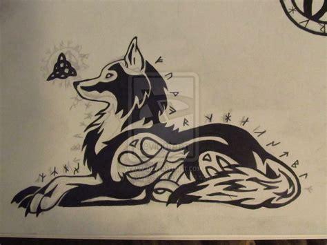 tribal triquetra tattoo tribal celtic wolf