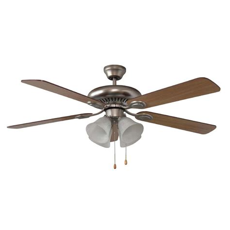 shop litex 52 in brushed pewter ceiling fan with light kit