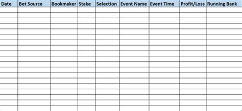 Nfl Betting Spreadsheet by Keeping Your Betting Results Organized Winners Odds