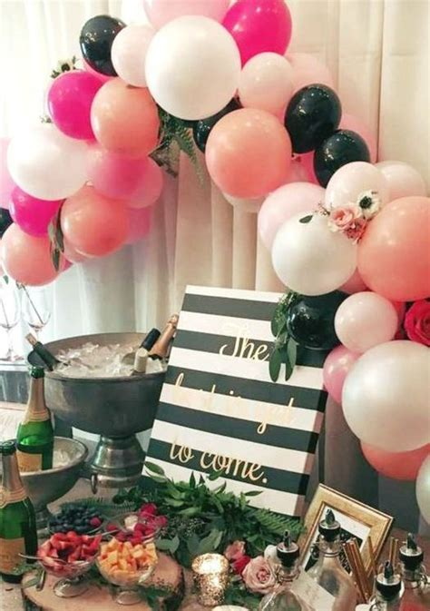 sweet balloon decorations   bridal shower shelterness