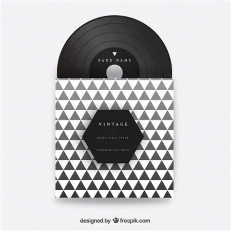 design vinyl cover triangles vinyl cover vector free download