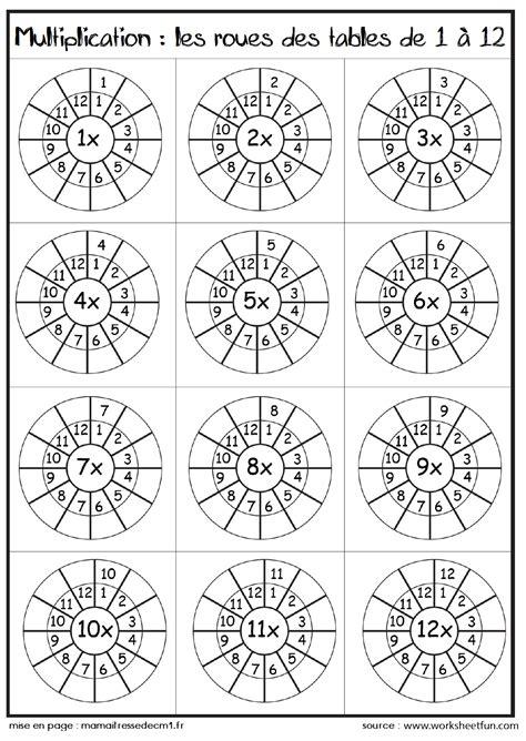 tableau table de multiplication tables de multiplications ma maitresse de cm1 cm2