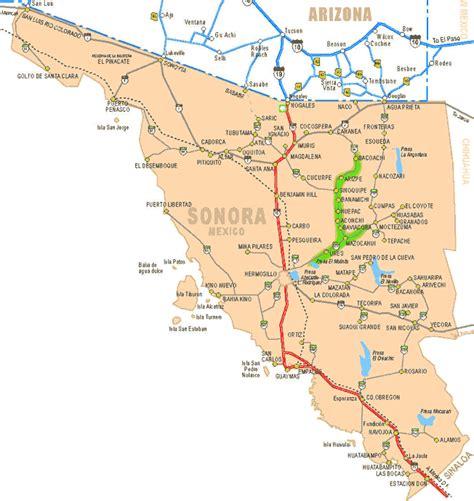 mapa de sonora mexico mexico map sonora