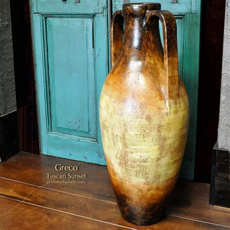Tuscan Floor Vase by Greco Tuscan Sunset Floor Vase