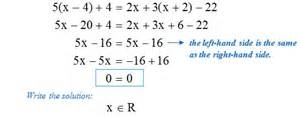 math types of linear equations