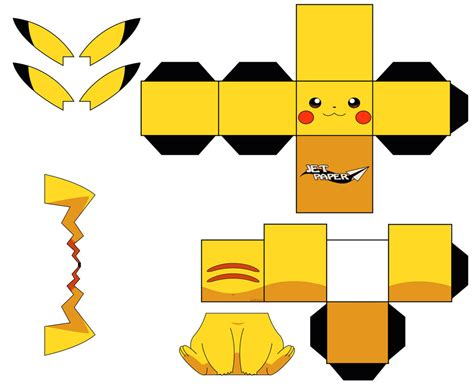Pikachu Papercraft Template - pikachu by jetpaper on deviantart