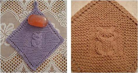 diagonal dishcloth knit diagonal owl knitted dishcloth free knitting pattern
