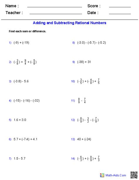 Ordering Rational Numbers Worksheet by Algebra 1 Worksheets Basics For Algebra 1 Worksheets