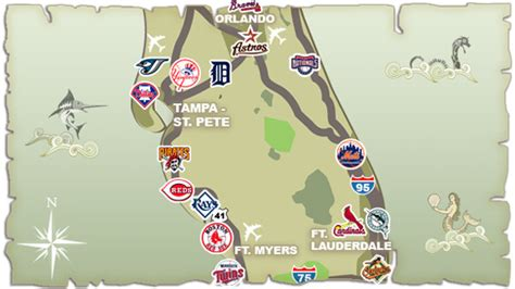 grapefruit league map the grinds grinds goes coast to coast