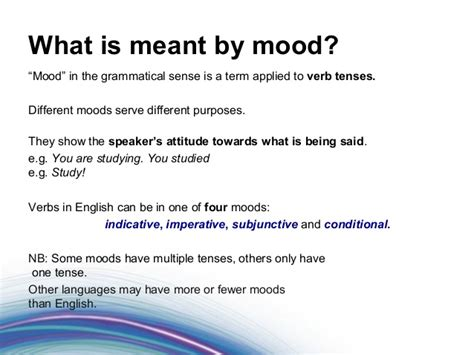 foundations of grammar 16 what are tense and mood