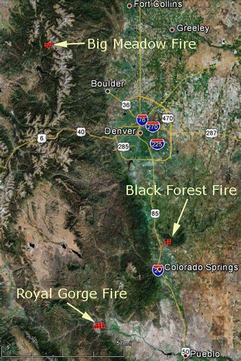 colorado fires map black forest colorado springs wildfire today