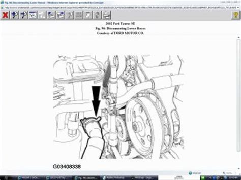 2002 ford taurus cooling system diagram 2002 ford taurus coolant reservoir how do i replace the