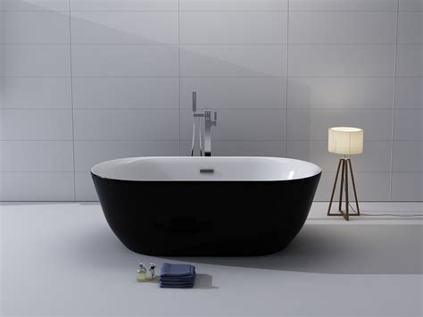 black freestanding bathtub kokss freestanding modern seamless acrylic bathtub lamone