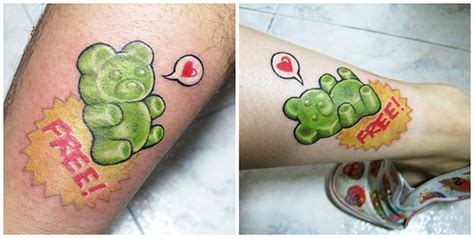 gummy bear tattoo katy perry inspired tattoos cakey perry