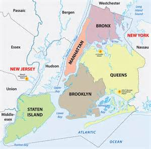 Map Of New York City Boroughs by Boroughs Of New York City Guyanese Online