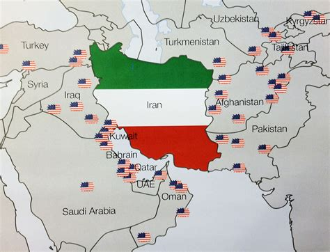 map us bases us bases around iran home page