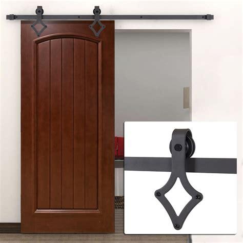 Sliding Closet Hardware by 6ft Country Barn Wood Steel Sliding Door Closet Hardware Black Brown Stainless Ebay