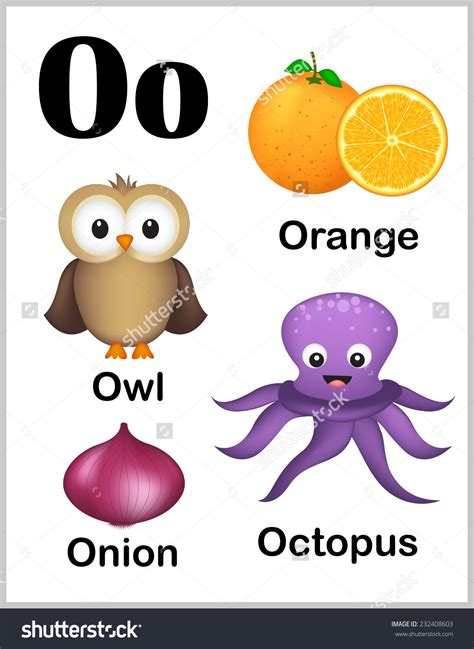 That Start With The Letter O thing wit whit letter o clipart