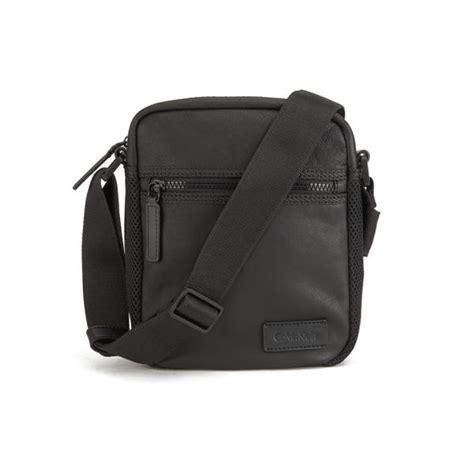 calvin klein s jimmy leather crossbody bag black