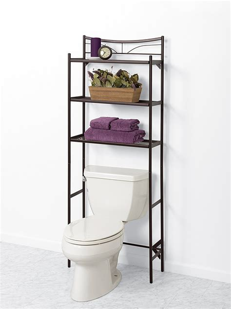 Space Saver Bathroom Shelves Bathroom Spacesaver Toilet Shelves Storage Metal Bronze Space Saver Shelf