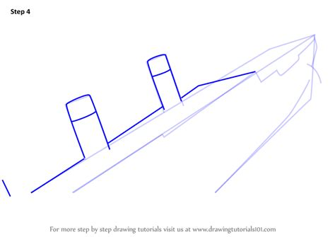 how to draw a boat sinking learn how to draw titanic sinking boats and ships step