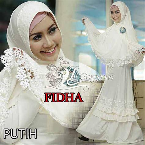 Gamis Syar I Crepe Kode 703 fidha putih baju muslim gamis modern
