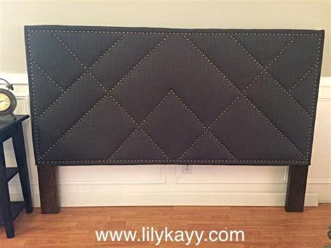 upholstered pattern nail trim headboard aftcra