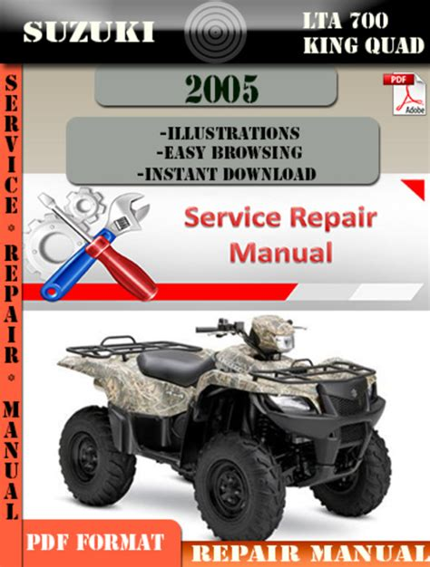 small engine repair manuals free download 2005 suzuki grand vitara navigation system suzuki lta 700 king quad 2005 digital service repair manual downl