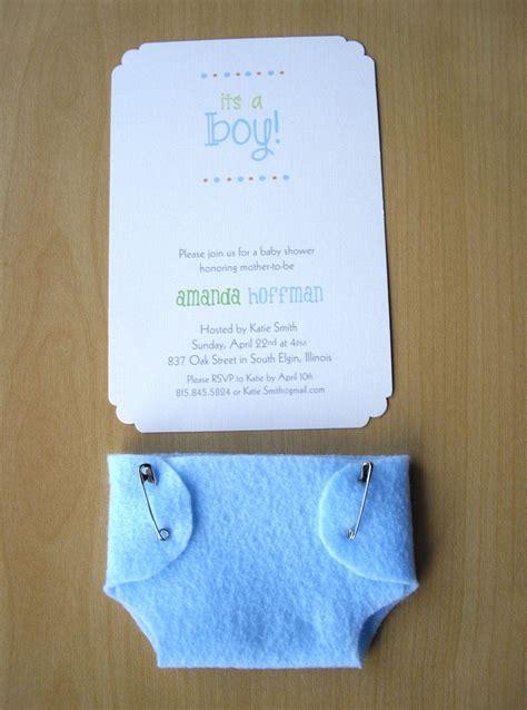 Handmade Baby Boy Shower Invitations - boy baby shower invitations blue felt and