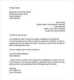 notice to vacate letter to tenant template intent to vacate letter 6 sles exles formats