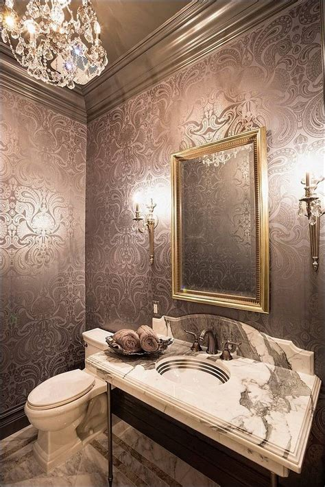 powder room bathroom ideas gorgeous wallpaper ideas for your modern bathroom