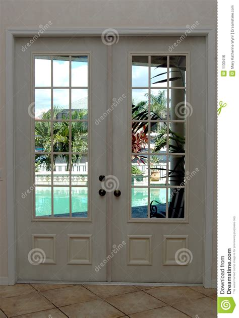 closed french doors royalty  stock image image