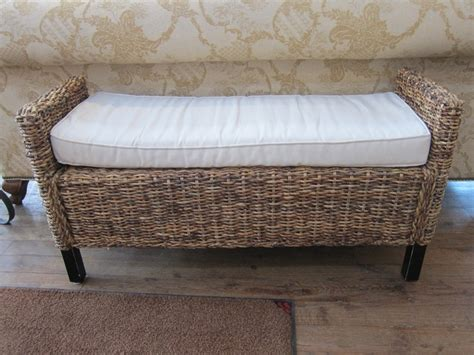 rattan benches rattan bench with a cushion furniture pinterest benches rattan and cushions