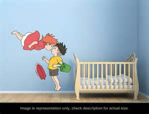 Mirrored Wall Art Stickers ponyo inspired ponyo and sosuke kiss wall art applique