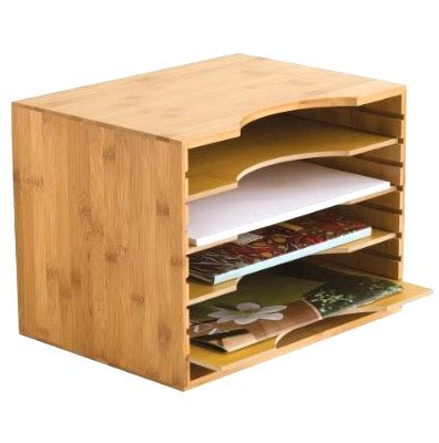 bamboo file organizer in file and mail organizers