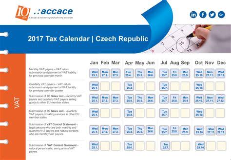 Tax Calendar 2017 Tax Calendar Republic Accace Outsourcing