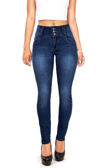 High Waist Button high waist with buttons modische jeansmodelle