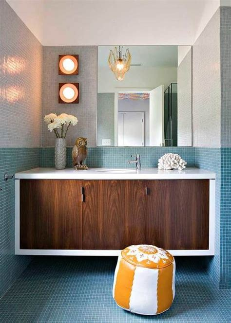 midcentury modern bathroom 14 midcentury modern bathroom tile ideas hunker