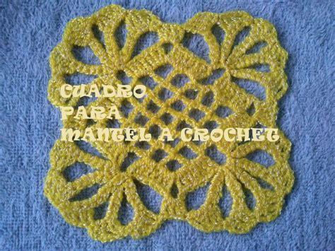 como tejer crochet para colcha en cuadros como tejer un cuadro o pastilla para mantel a crochet
