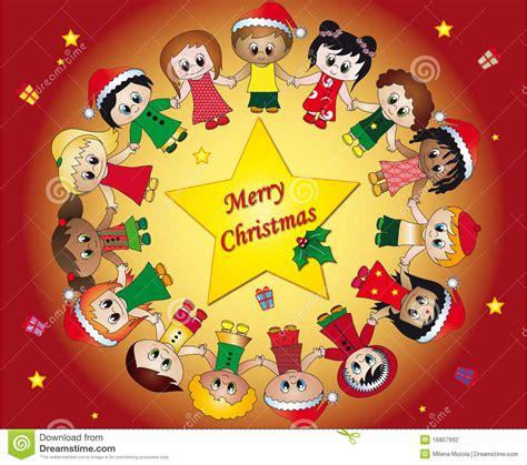 imagenes de navidad para niños la navidad de los ni 241 os stock de ilustraci 243 n imagen de