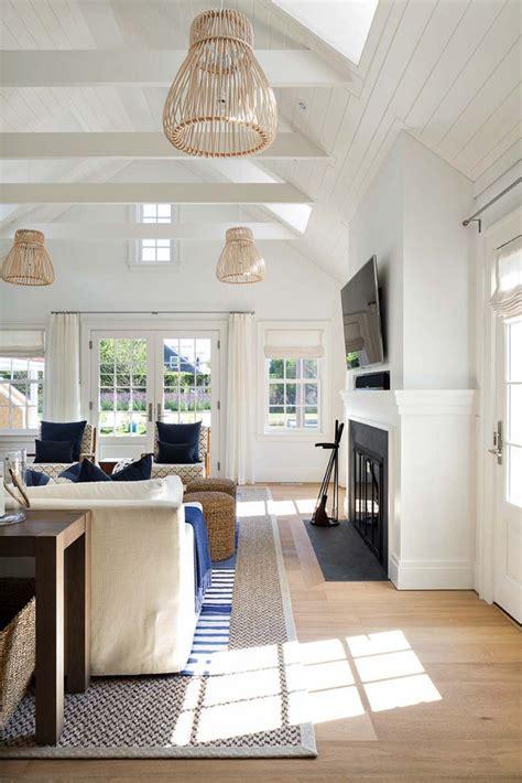 shingle style house  beach chic interiors  nantucket